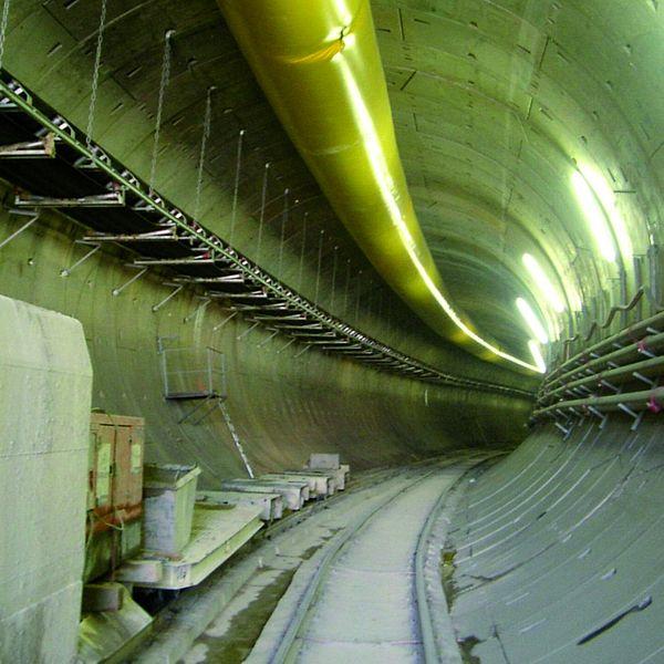 Túnel para metro en Madrid