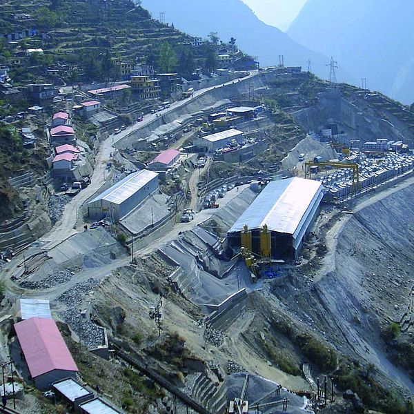Túnel para hidroeléctrica, Tapovan en India