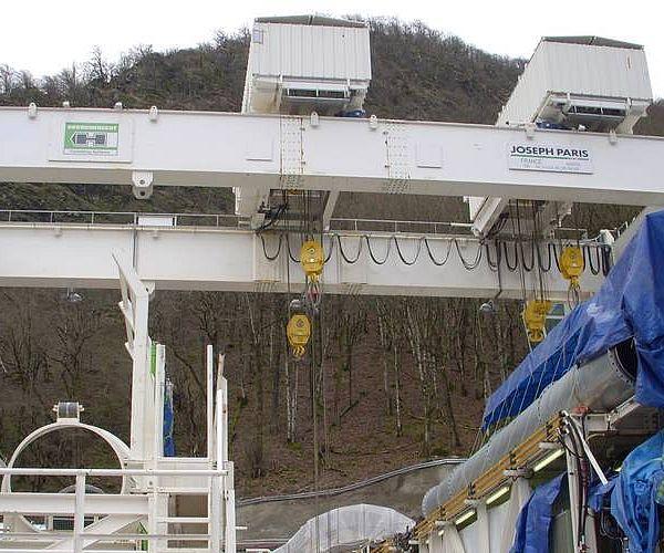 Тоннельный конвейер, Сочи, железнодорожный тоннель Nr. 3